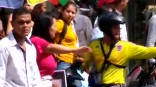 Vehículo incendiado causó congestión en el centro de Bucaramanga
