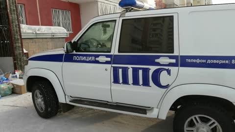 Russian police car UAZ Patriot.