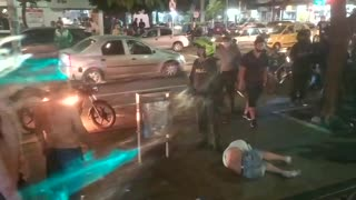 Incendiaron motocicleta de presuntos ladrones