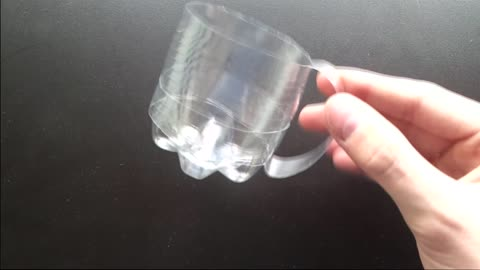 How to create a drinking cup using a bottle