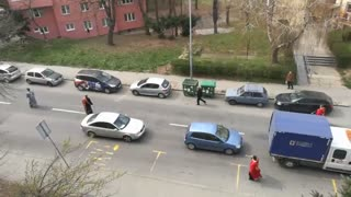 Serbia Priests Bless Streets From Tractor Against COVID