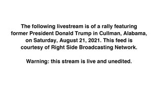 RIGHT NOW: Former President Donald Trump is holding a rally in Cullman, Alabama…
