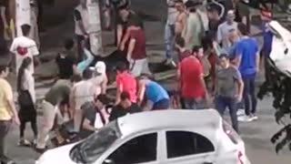 En San Alonso, queman otra moto de presuntos ladrones