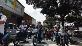 Video: Caos vial en diferentes puntos de Bucaramanga por protestas de motociclistas