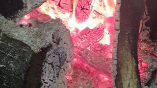 Relaxing roaring fire