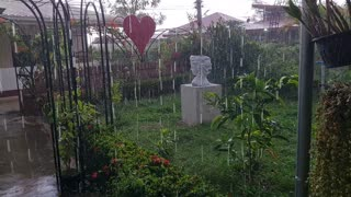 A tropical storm in Udonthani Thailand