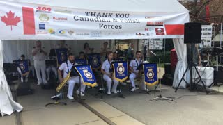 The Canadian and Polish Forces band