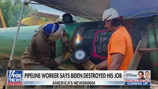 Laid Off Pipeline Worker Has Message for Biden That Americans Need to Hear