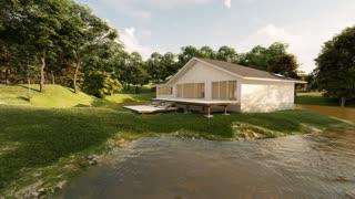 beautiful house on the lake