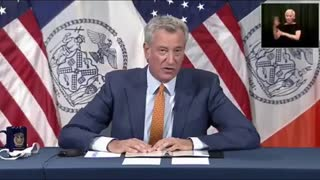 """Mayor Bill de Blasio says: """"We are going to flood New York Times Square with Police officers."""""""