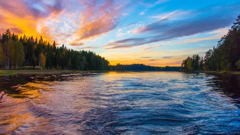 Relax Library: Video 57.Wide River slowly running