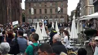 Strasbourg, France: Protests Against Health Passes & Mandatory Vaccination Announced by Macron