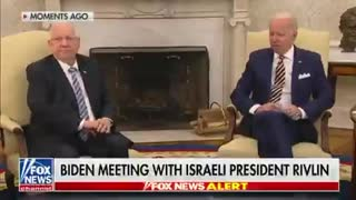 Biden Stumbles, Needs Notes To Defend Israel