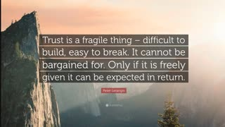 Soul of the Everyman - Trust is Broken - Hw can it be Healed?