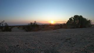 Hyperlapse desert sunrise