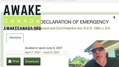Ontario has revoked the Emergency Act on June 9, 2021