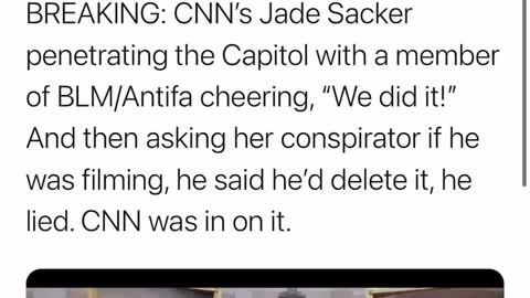 CNN was in on the Capitol raid