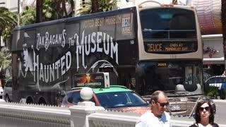 Mobile Billboards driving on the Las vegas Strip.