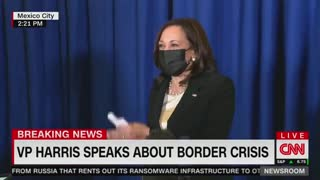 Harris Laughs Again When Asked About Visiting the Border