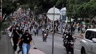 Marcha se desvía y comienza a desplazarse hacia el sur por la 27 en Bucaramanga