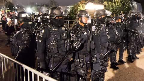 EXCLUSIVE: Police tear gas Trump protestors at US Capitol