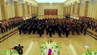 N. Korean leader visits grandfather's mausoleum