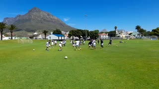 Cape Town City players at training in Hartleyvale