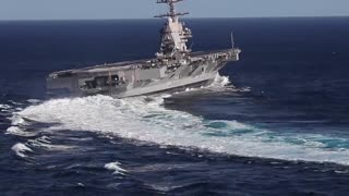USS Gerald R. Ford extreme High Speed Turns