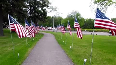 Local Memorial Day Flag Display