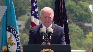 "Joe Biden Calls Coast Guard Academy Graduates ""Dull"" When They Don't Clap for Him"