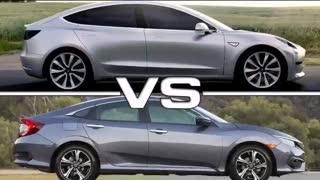 Tesla car   Honda vs Tesla   Tesla vs Bmw   Tesla vs Audi
