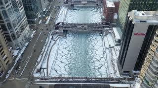 City Frozen by Polar Vortex