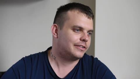 Lottery winner, Lee Davies, speaks after being targeted by robbers