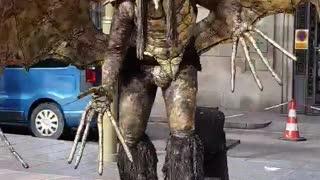 Barcelona La Rambla Monster on street