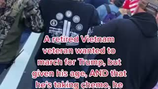 Vietnam Veteran with Cancer Marching for Trump