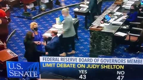 Lindsey Graham fist bumps Kamala Harris on Senate floor!