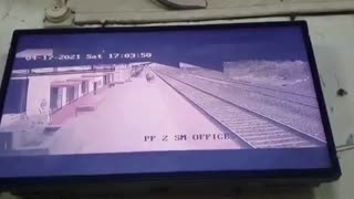 Railway worker saves child from oncoming train