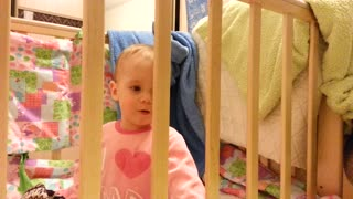 My little daughter doesn't like her crib