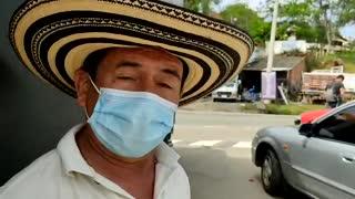 Protesta camioneros en San Gil
