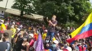 Protesta en el parque San Pío, Bucaramanga