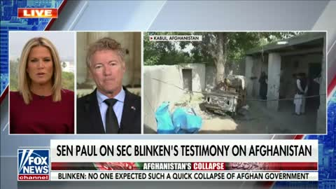 Dr. Rand Paul Joins Martha MacCallum on Fox to Discuss Antony Blinken's Testimony - September 14, 2021