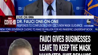 FAUCI GIVES BUSINESSES LEAVE TO KEEP THE MASK MANDATE