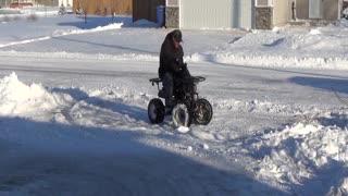 Mini Quad snow removal