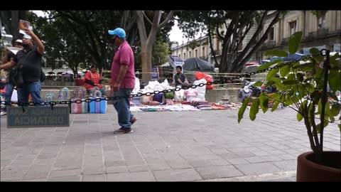Flautist at Oaxaca City Plaza - LIVE MUSIC