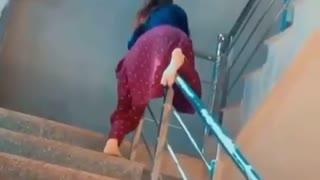 Video showing a girl having fun