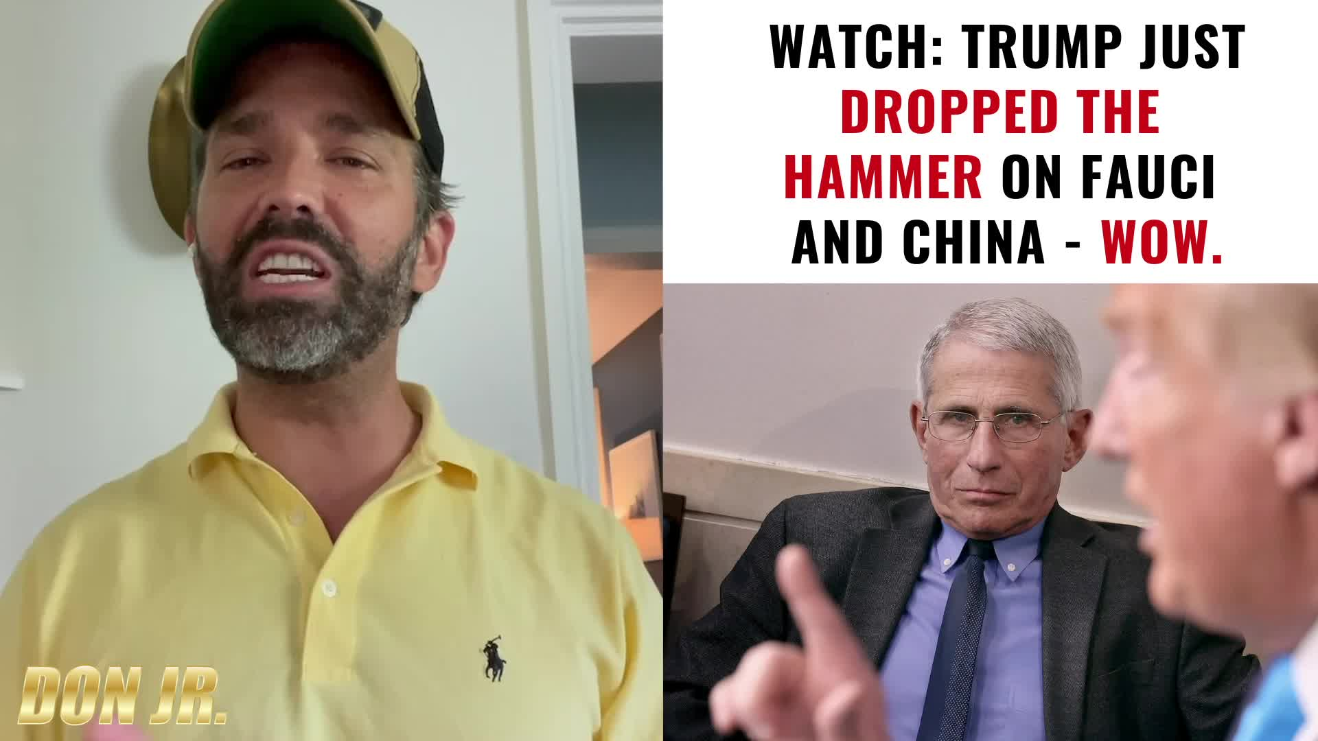Breaking: Trump Just Dropped The Hammer On Fauci & China! - Donald Trump Jr. Must Video
