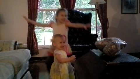 My girls dancing