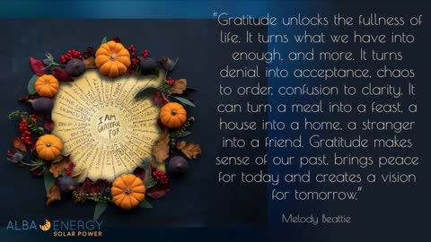 Alba Energy Wishes You a Happy Thanksgiving!