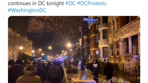 """BLM Protest in DC Feb 6th 2021 NOW chanting """"If we don't get it BURN IT DOWN"""