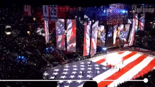 THOUSANDS OF PATRIOTS SINGING NATIONAL ANTHEM IN UNITY